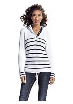 Пуловер с воротником «тройер»