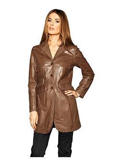 Кожаная куртка узкого покроя