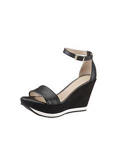 Кожаные босоножки на высоком каблуке Laura Scott