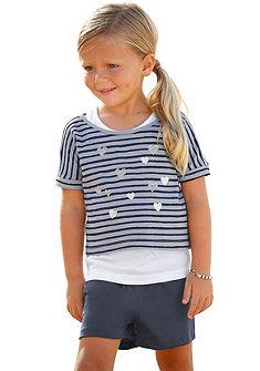 Комплект: футболка + топ + шорты