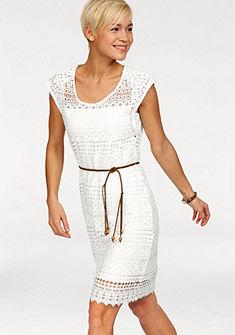 Комплект: кружевное платье + пояс