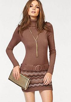 Трикотажное платье c узором
