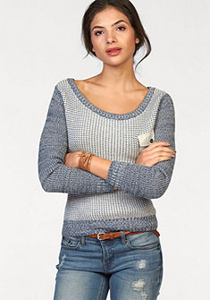 Трикотажный пуловер с нагрудным карманом AJC