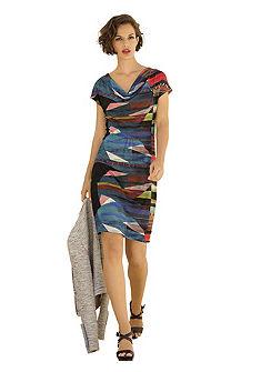 Платье из джерси с рисунком