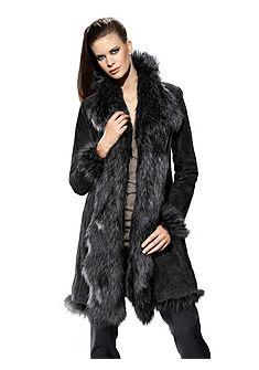 Кожаное пальто, из свиной замши
