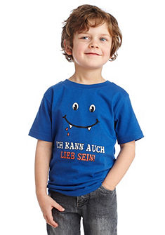 CFL, футболка для мальчиков, «Ich kann auch lieb sein!»