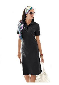 Платье с воротником «поло»