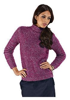 Пуловер с воротником «гольф»
