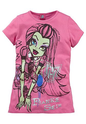 Футболка для девочек, Monster High - MONSTER HIGHСтильный принт героини Фрэнки Штейн. Высококачественный материал из 100 % хлопка.<br><br>color: ярко-розовый<br>gender: female<br>material: baumwolle,eud