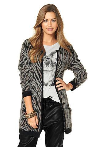 """Удлиненный вязаный пуловер """"""""New Zebra"""""""" Vero Moda"""