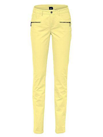 Джинсы - B.C. BEST CONNECTIONSЖенственная блуза облегающего кроя с глубоким вырезом, декорированным изящным воланом из джерси, и длинными рукавами с высокими манжетами. Длина для размера 38 около 64 см. Состав: 100% вискоза. Рекомендуется машинная стирка.<br><br>color: желтый<br>gender: female