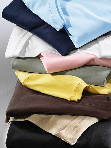 Кофта с вырезом горловины каре - B.C. BEST CONNECTIONSКофта с вырезом горловины каре. Очень модная форма выреза горловины! Длина изделия ок. 56 см. Облегающий покрой. Благодаря высококачественному суперчёсаному хлопку (кроме серого мелированного цвета: 67% хлопок и 33% полиэстер) очень удобна в носке.<br><br>color: шоколадный<br>gender: female<br>material: baumwolle