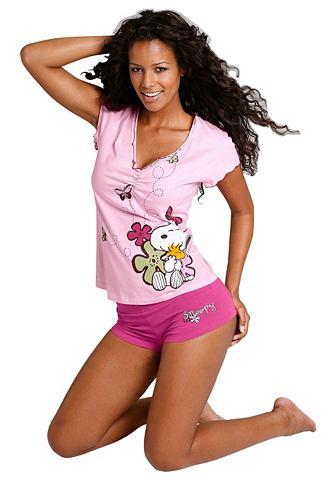 Короткая пижама, Snoopy PEANUTS. Цвет: розовый