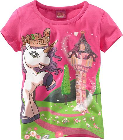 Filly, футболка «Unicorn» FILLY. Цвет: ярко-розовый