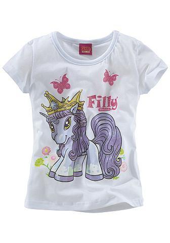 Filly, футболка «Unicorn» FILLY. Цвет: белый