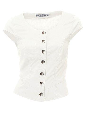 Блузка - ASHLEY BROOKEШикарный короткий покрой с цельнокроеными рукавами и 2 карманами на линии груди. Со стильной шнуровкой на спине. Закруглённый нижний край. Длина ок. 48 см. Покрой отлично подчёркивает фигуру. Из 97 % хлопка, 3 % эластана. Машинная стирка.<br><br>color: телесный<br>gender: female
