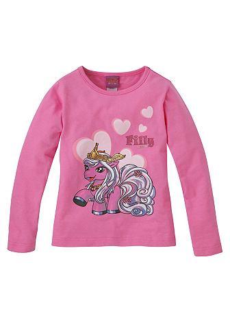 Filly, кофточка «Unicorn» для девочек FILLY. Цвет: розовый