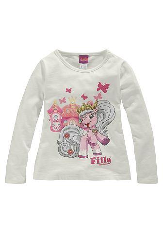 Filly, кофточка «Unicorn» для девочек FILLY. Цвет: цвет белой шерсти