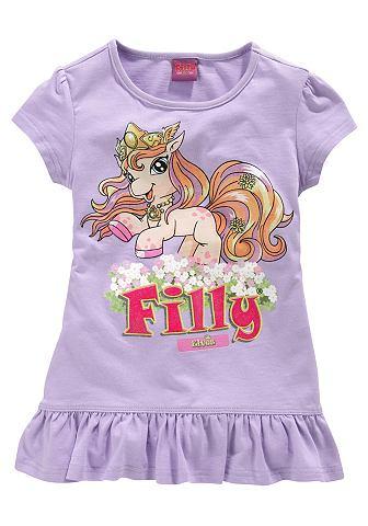 Filly, кофточка с оборками «Unicorn», для девочек FILLY. Цвет: сиреневый