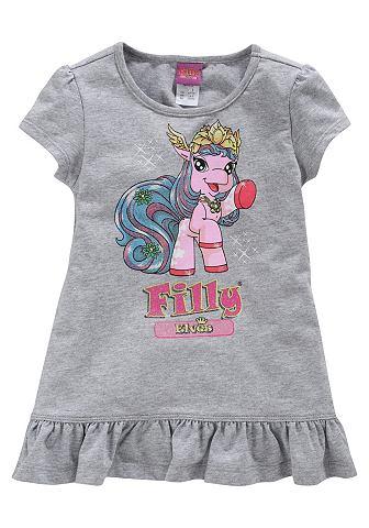 Filly, кофточка с оборками «Unicorn», для девочек FILLY. Цвет: серый