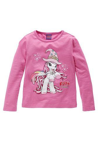 Filly, кофточка с длинным рукавом «Unicorn», для девочек FILLY. Цвет: ярко-розовый