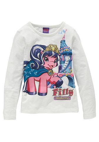 Filly, кофточка с длинным рукавом «Unicorn», для девочек FILLY. Цвет: натуральный