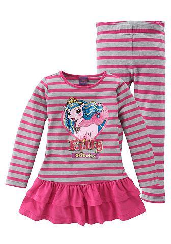 Набор из 2 предметов от Filly: кофточка и леггинсы «Witchy» FILLY. Цвет: ярко-розовый