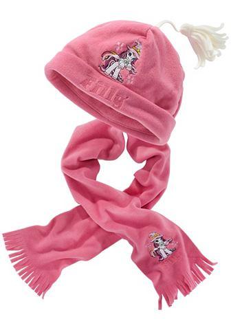Шапка и шарф, Filly (набор из 2 предметов). Цвет: розовый