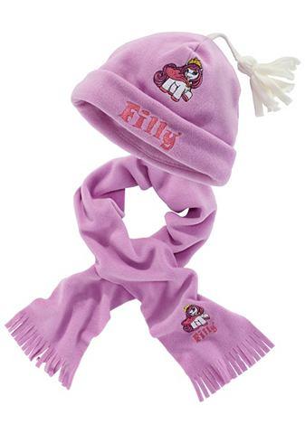 Шапка и шарф, Filly (набор из 2 предметов). Цвет: лиловый