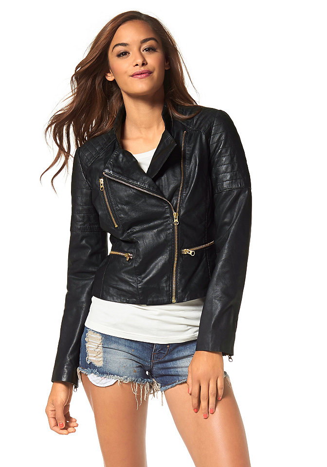Байкерские женские куртки
