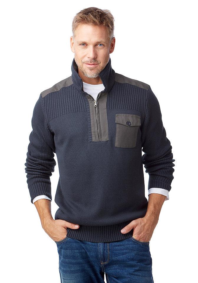 Пуловер С Широким Воротником