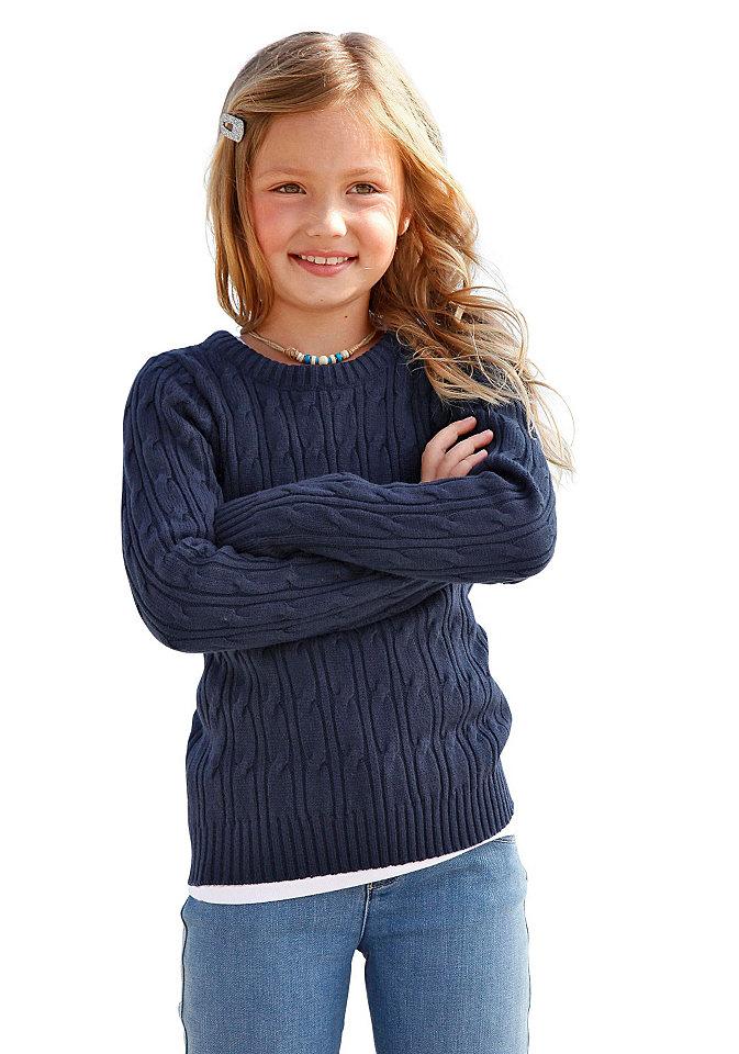 Пуловер С Косами Для Девочки