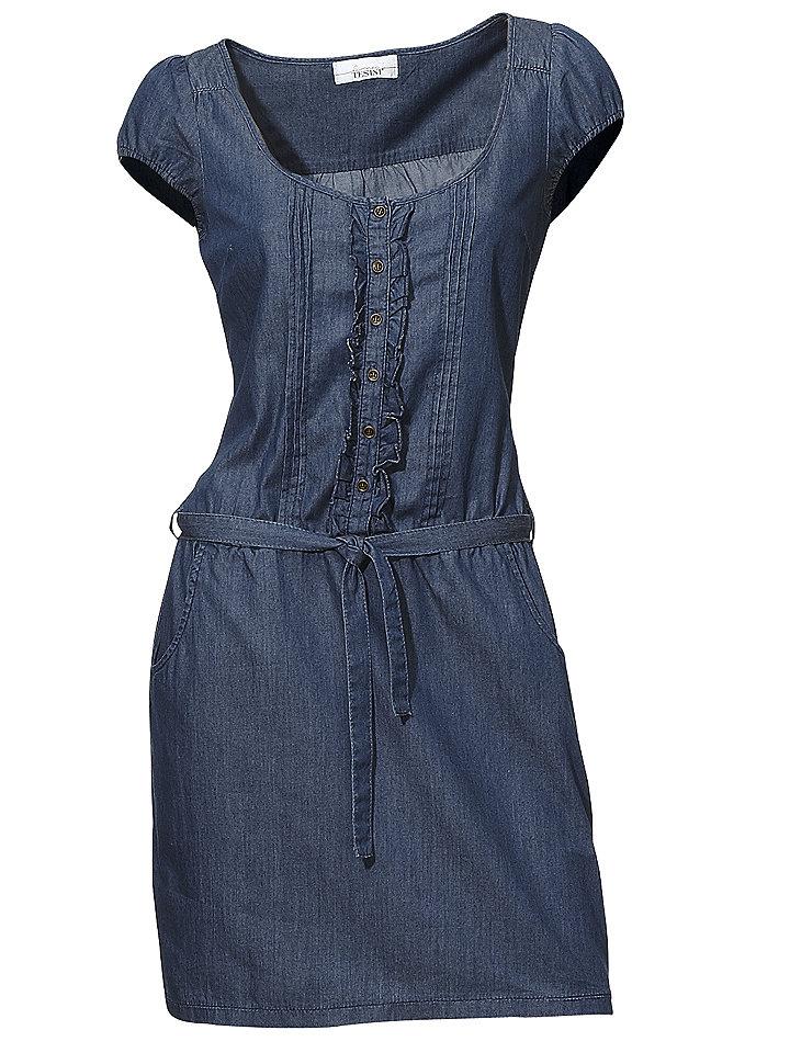 Модное джинсовое платье своими руками 17