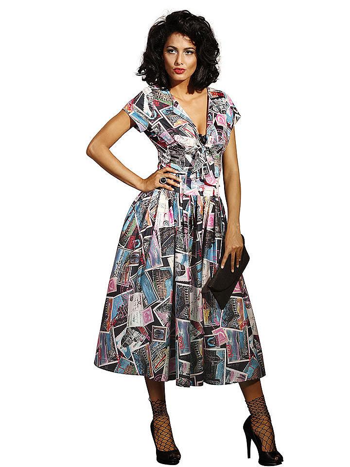 Модели цветных платьев для женщин