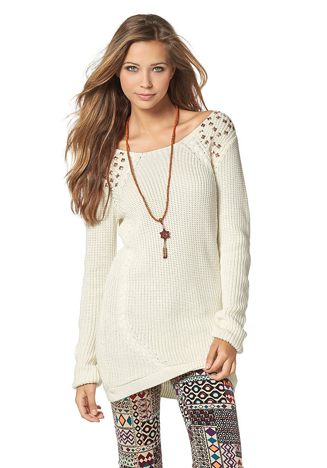 Пуловер С Закругленным Низом С Доставкой