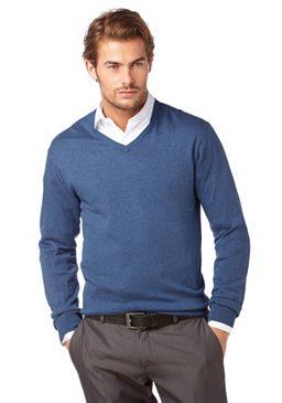 Пуловер с V-образным вырезом, Class International