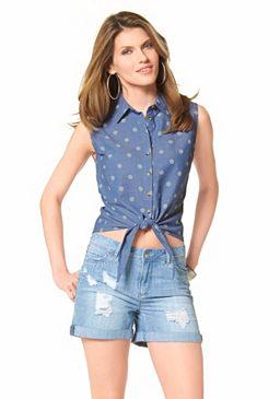 Джинсовая блуза Aniston