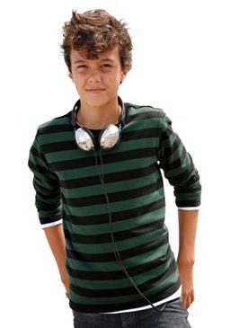 CFL, футболка с длинным рукавом, в полоску, для мальчиков