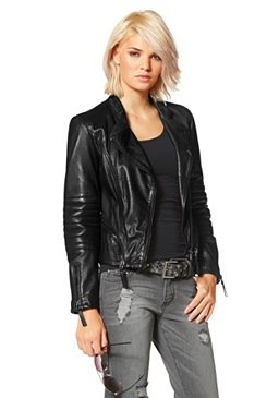 Laura Scott, кожаная куртка