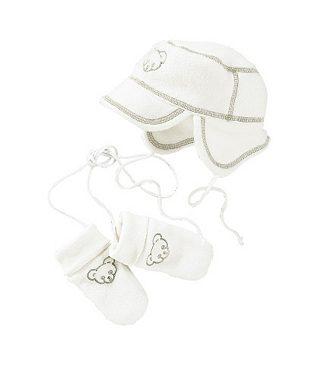 Набор: шапка и рукавички из флиса для младенцев, Klitzeklein