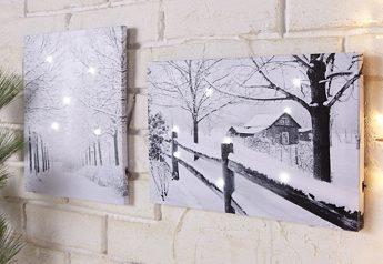 Комплект: Картина со светодиодной подсветкой (2 шт.)
