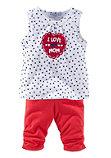 Маленькие шорты и леггинсы длиной 3/4 для детей (набор из 2 шт)