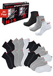 Короткие спортивные и классические носки (в наборе 20 пар), H.I.S