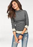 Пуловер с воротником-стойкой AJC